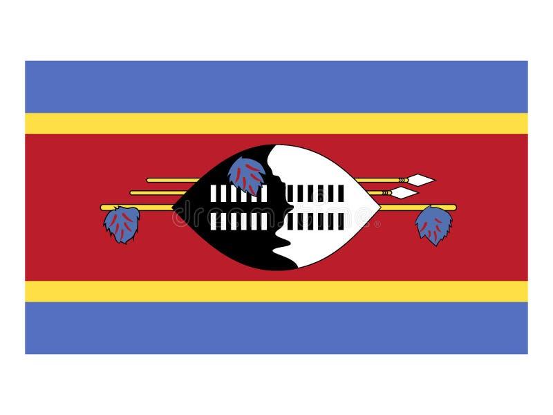 Bandeira de Eswatini ilustração stock