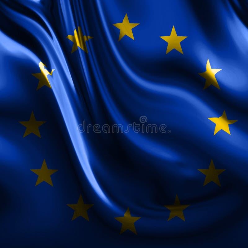 Bandeira de Europa ilustração royalty free