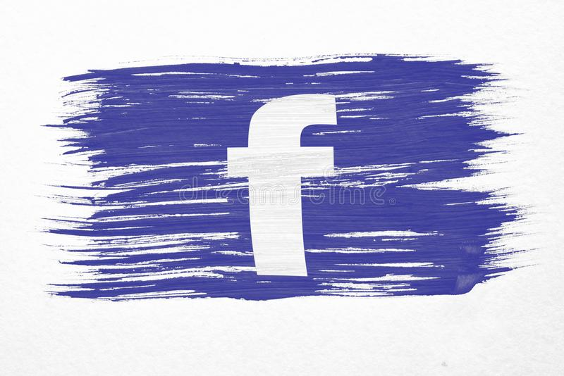 Bandeira de Facebook ilustração do vetor