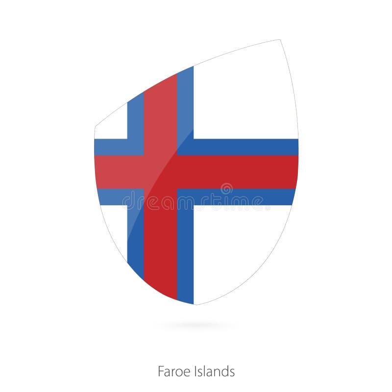 Bandeira de Faroe Island ilustração do vetor