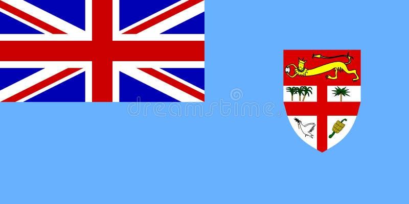 Bandeira de Fiji ilustração royalty free