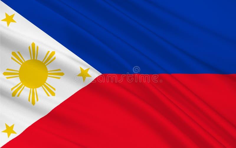 Bandeira de Filipinas ilustração do vetor
