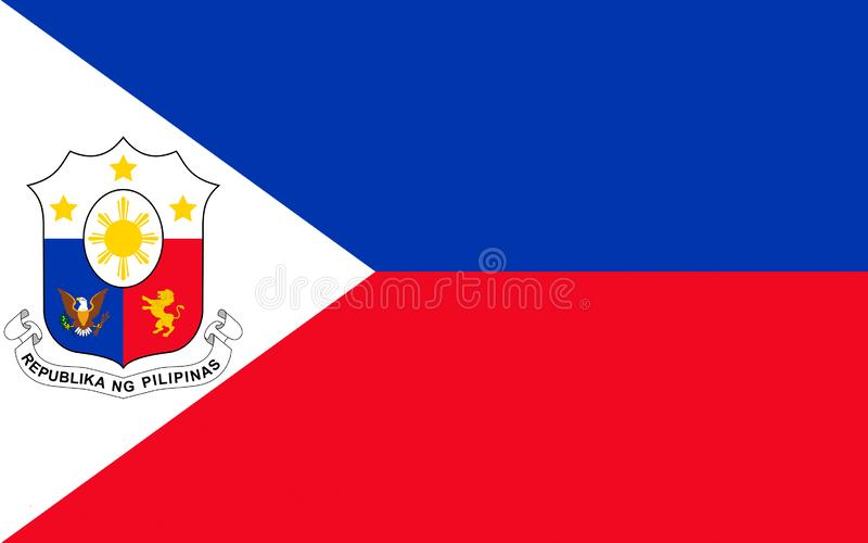 Bandeira de Filipinas ilustração royalty free