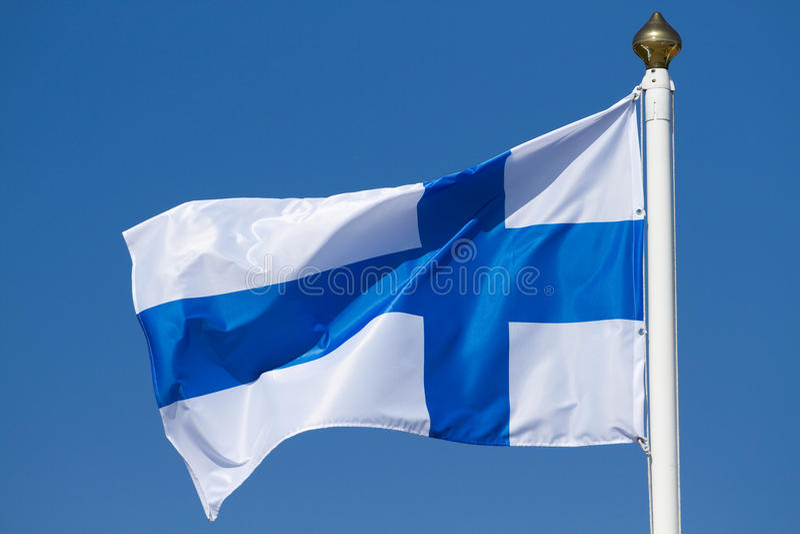 Bandeira de Finlandia fotografia de stock