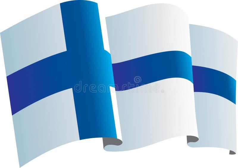 Bandeira de Finlandia ilustração do vetor