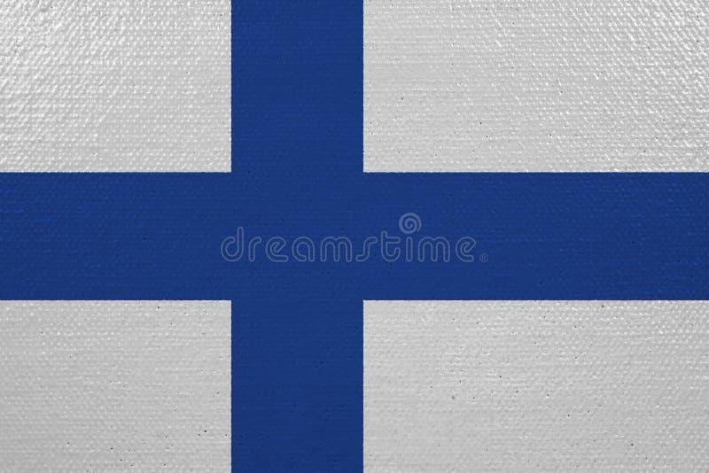 Bandeira de Finlandia na lona ilustração royalty free