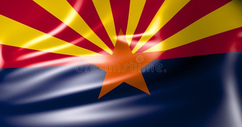 Bandeira de Florida Estados Unidos da América ilustração 3D ilustração do vetor