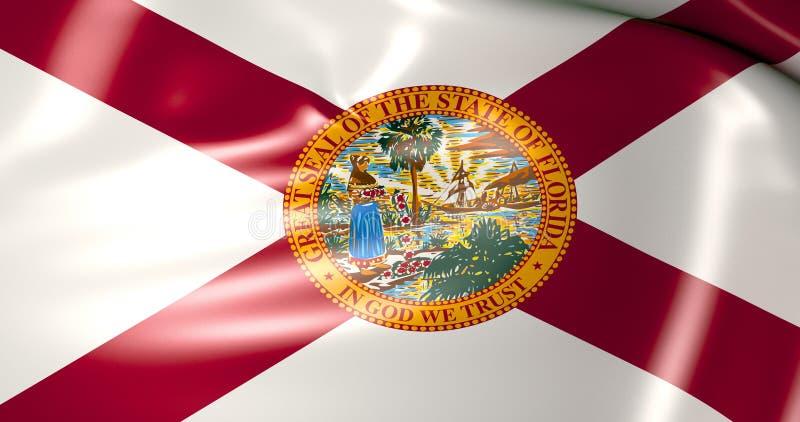 Bandeira de Florida Estados Unidos da América ilustração 3D ilustração royalty free