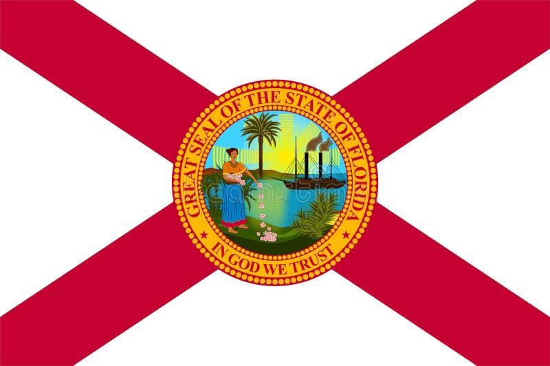 Bandeira de Florida, EUA ilustração do vetor