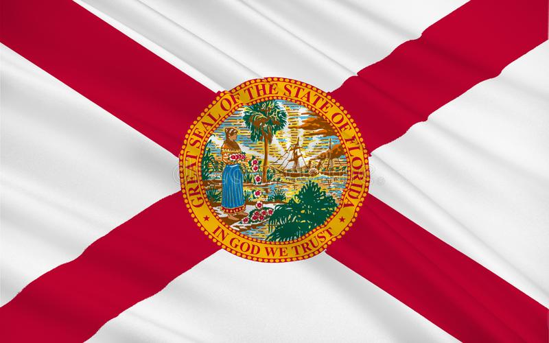 Bandeira de Florida, EUA ilustração stock