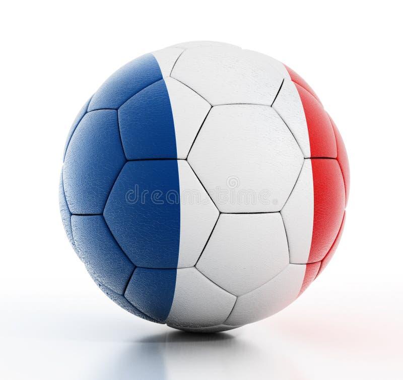 Bandeira de França no futebol ilustração stock