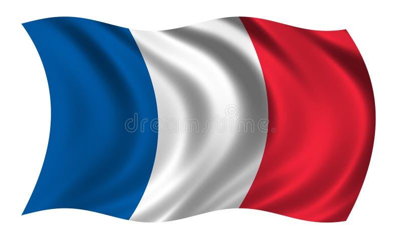 Bandeira de France ilustração royalty free