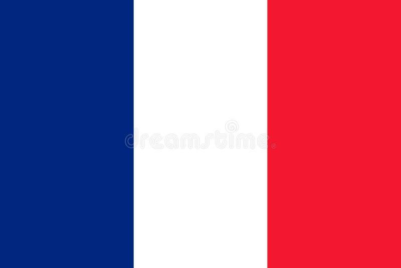 Bandeira de France ilustração do vetor