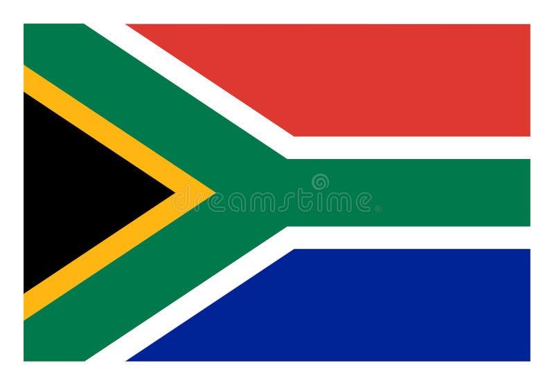 Bandeira de ?frica do Sul ilustração royalty free