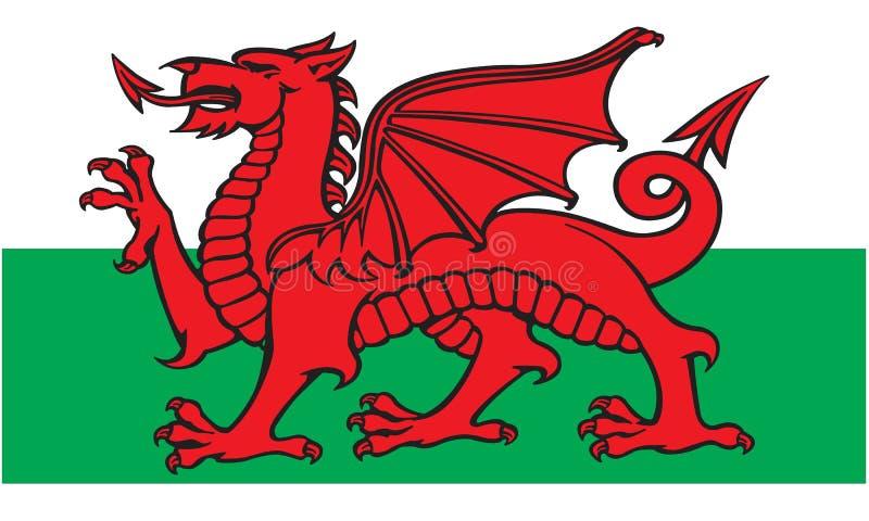 Bandeira de Galês ilustração royalty free