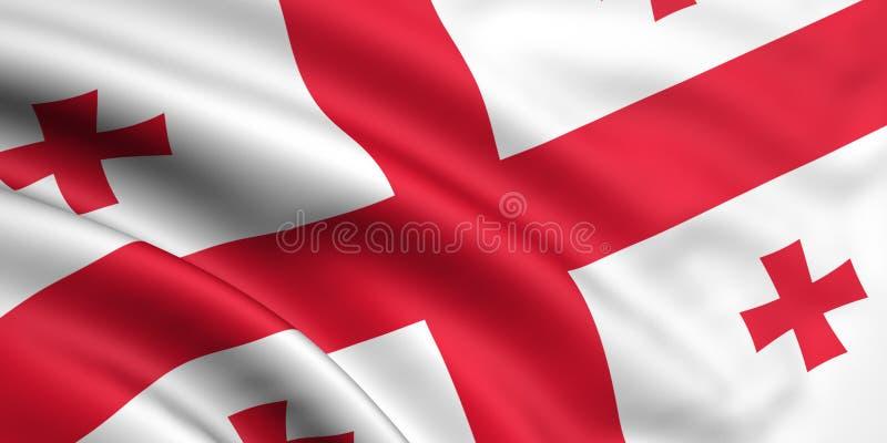 Bandeira de Geórgia ilustração stock