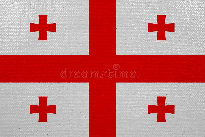 Bandeira de Geórgia na lona ilustração royalty free