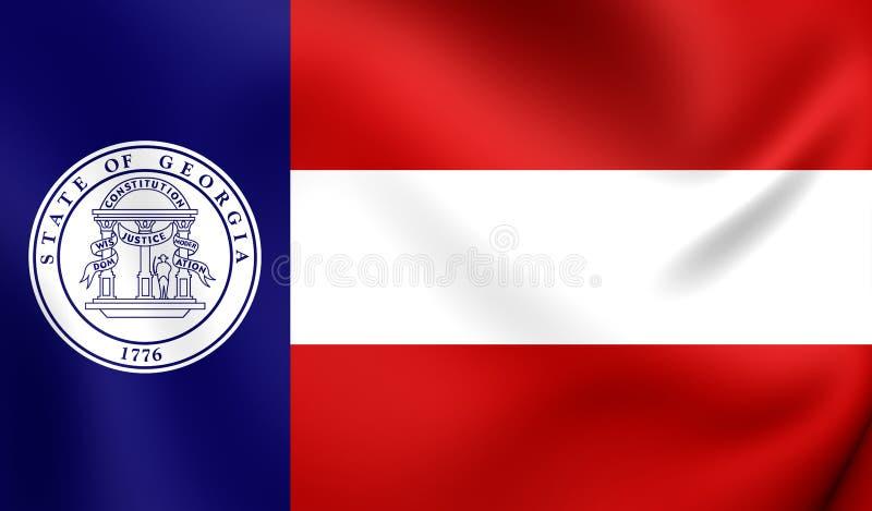 Bandeira de Georgia State 1920-1956, EUA ilustração royalty free