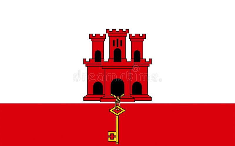 Bandeira de Gibraltar ilustração stock