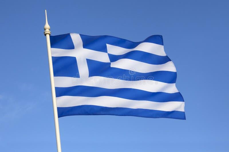 Bandeira de Grécia - Europa imagens de stock
