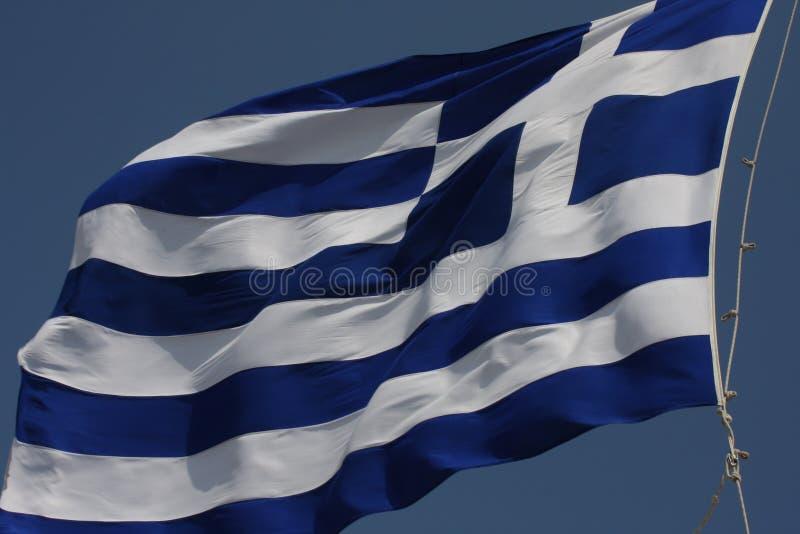 Bandeira de Grécia - bandeira de Grécia Hellenic Republic fotografia de stock