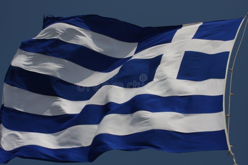 Bandeira de Grécia - bandeira de Grécia Hellenic Republic fotografia de stock royalty free