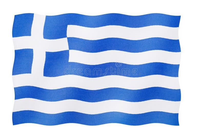 Bandeira de Greece ilustração royalty free