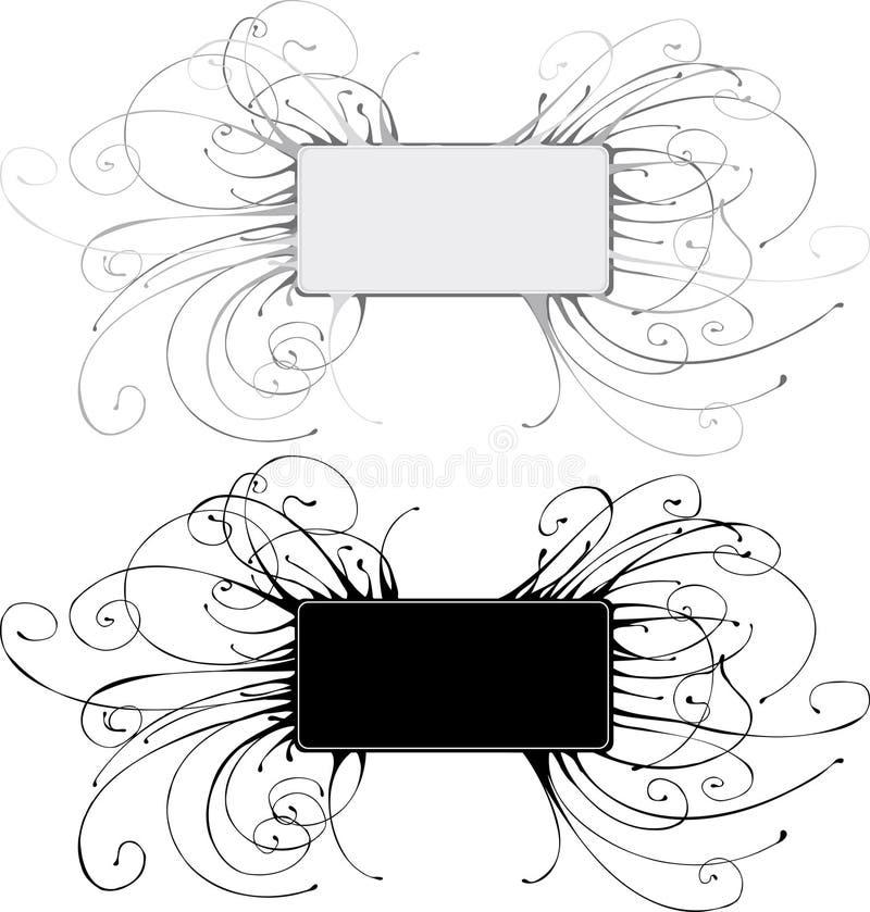Bandeira de Grunge ilustração stock