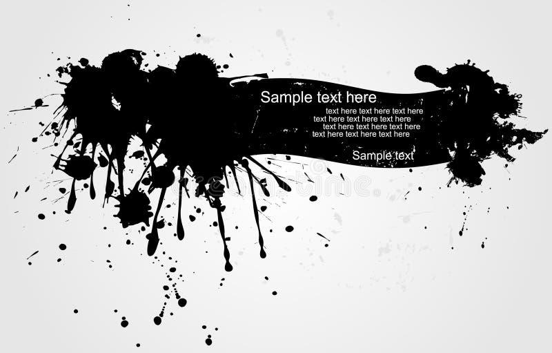Bandeira do Grunge ilustração royalty free