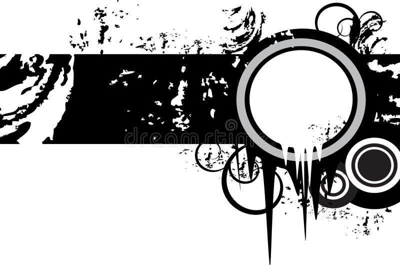 Bandeira de Grunge com elemento floral ilustração royalty free