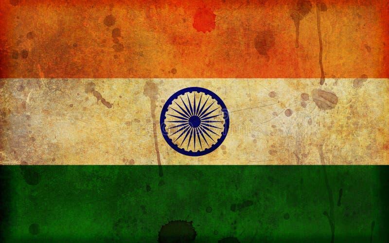 Bandeira de Grunge da ilustração de India ilustração stock