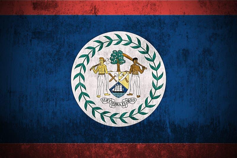 Bandeira de Grunge de Belize ilustração stock