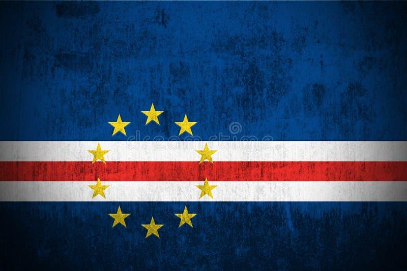 Bandeira de Grunge de Cabo Verde ilustração royalty free