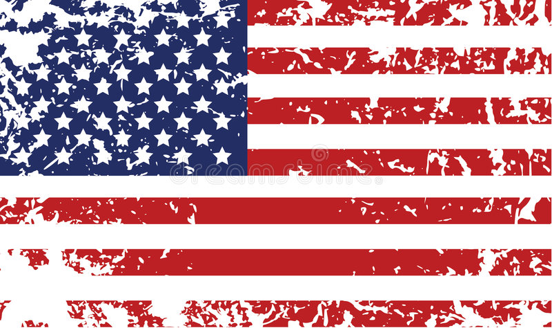 Bandeira de Grunge de Estados Unidos ilustração royalty free