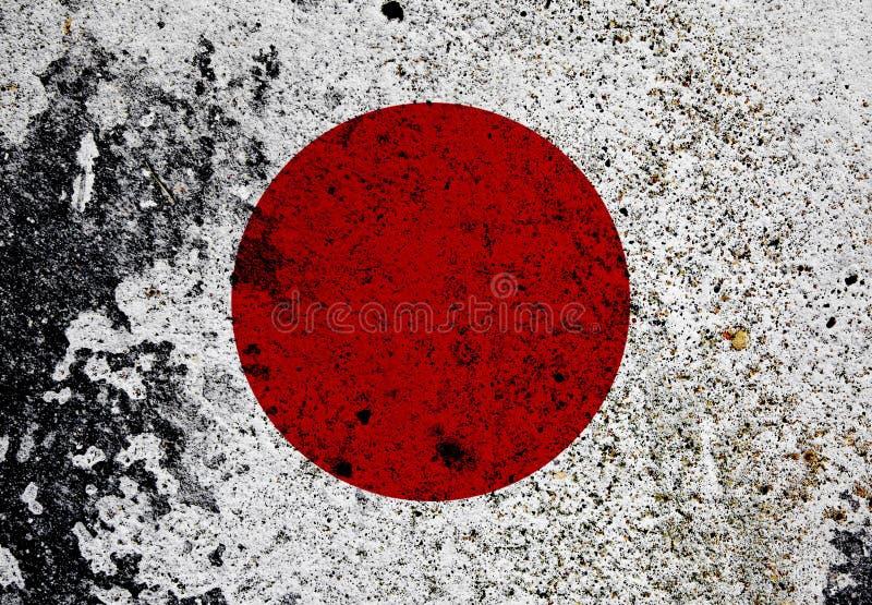 Bandeira de Grunge de Japão ilustração stock