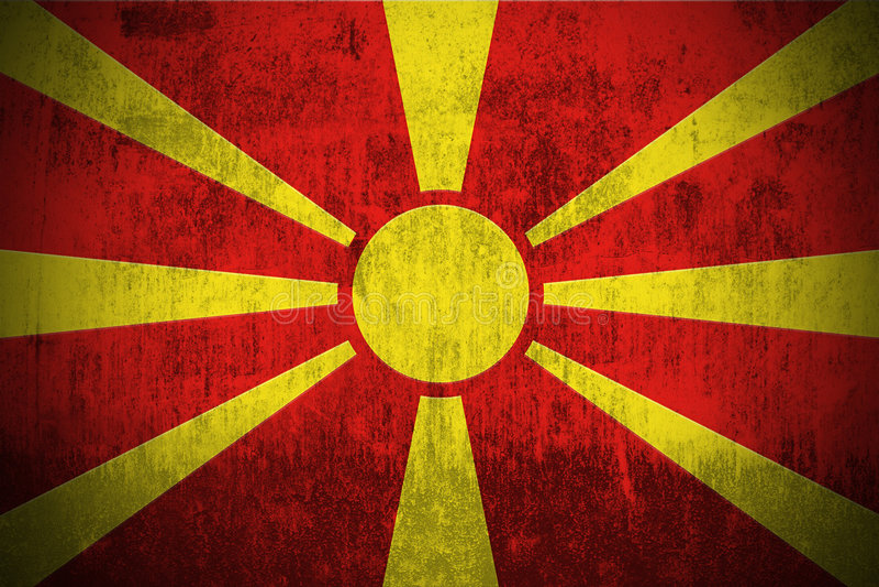 Bandeira de Grunge de Macedónia ilustração royalty free