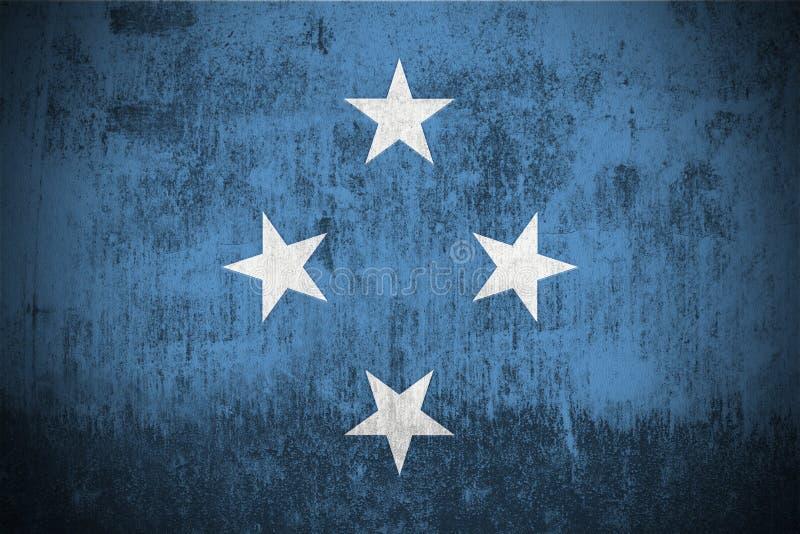 Bandeira de Grunge de Micronesia ilustração do vetor