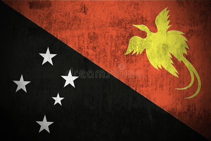 Bandeira de Grunge de Papuá-Nova Guiné ilustração stock