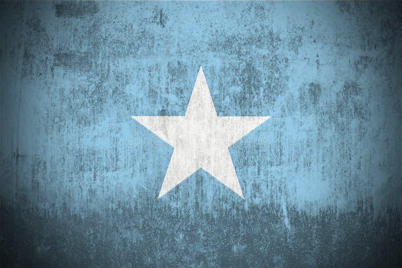 Bandeira de Grunge de Somália ilustração stock