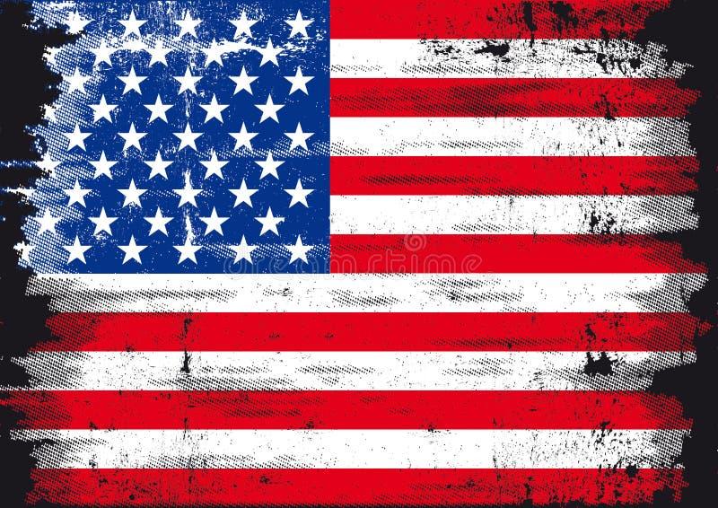 Bandeira de Grunge E.U. ilustração stock