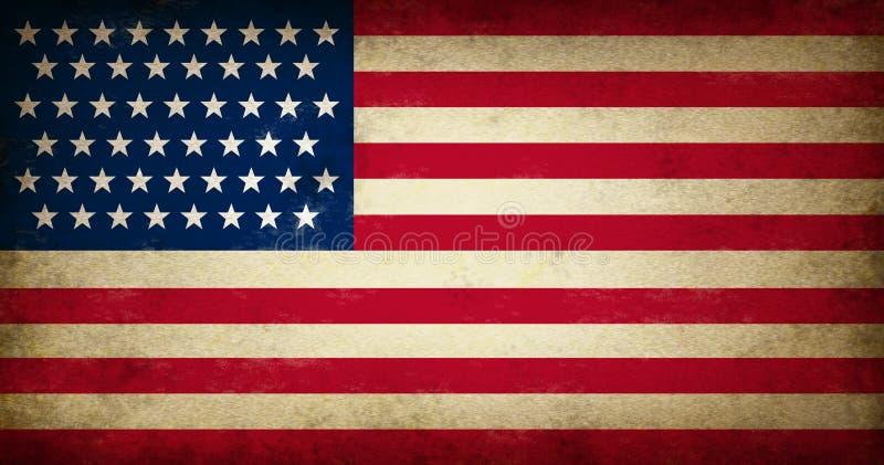 Bandeira de Grunge EUA ilustração stock