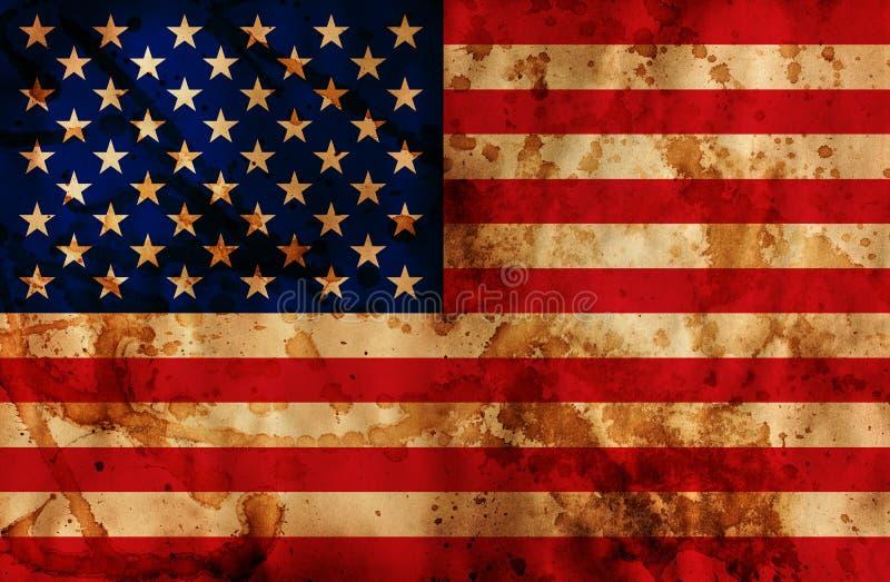 Bandeira de Grunge EUA ilustração do vetor