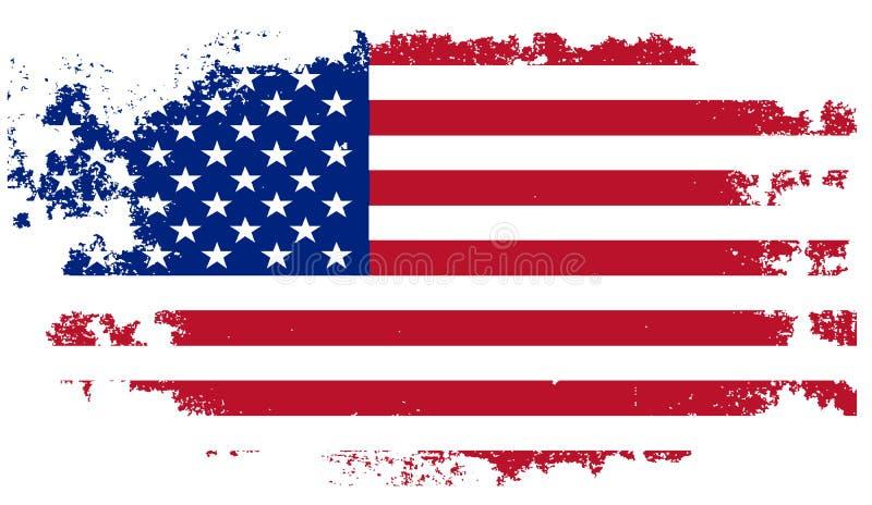 Bandeira dos EUA do Grunge ilustração stock