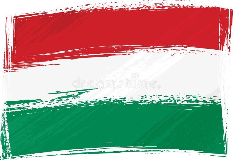 Bandeira de Grunge Hungria ilustração stock