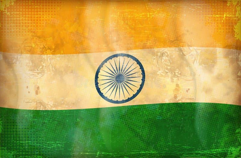 Bandeira de Grunge - India ilustração do vetor