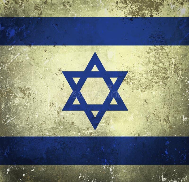 Bandeira de Grunge de Israel ilustração do vetor