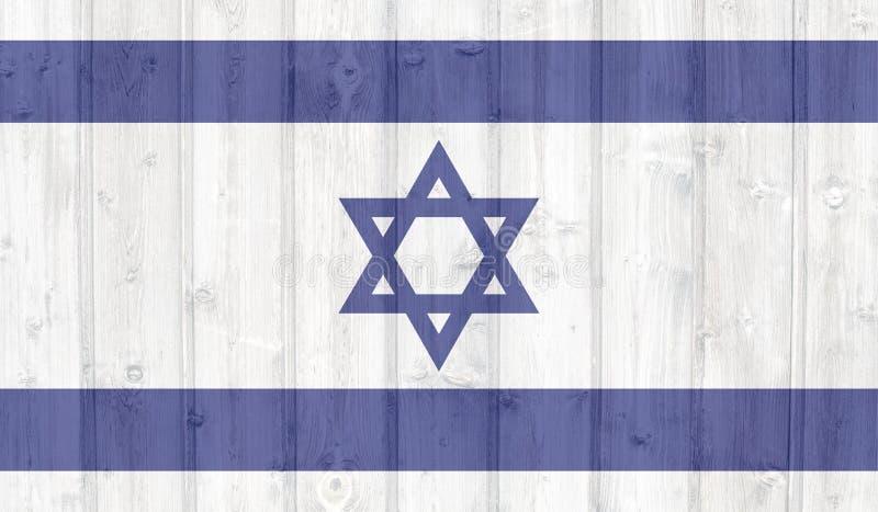 Bandeira de Grunge Israel ilustração royalty free