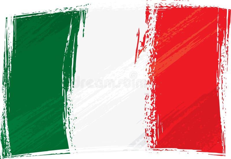 Bandeira de Grunge Italy ilustração stock