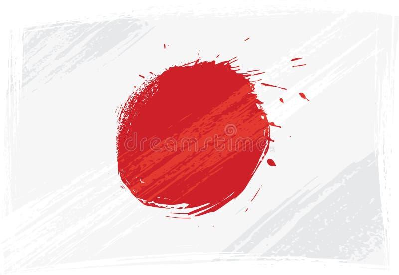 Bandeira de Grunge Japão ilustração do vetor