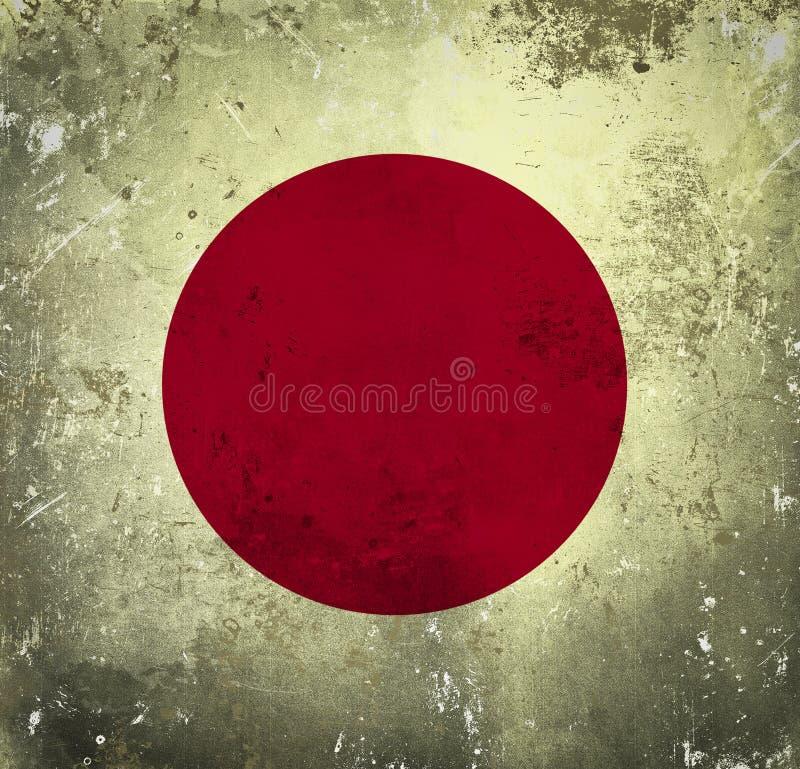 Bandeira de Grunge de Jap?o ilustração do vetor